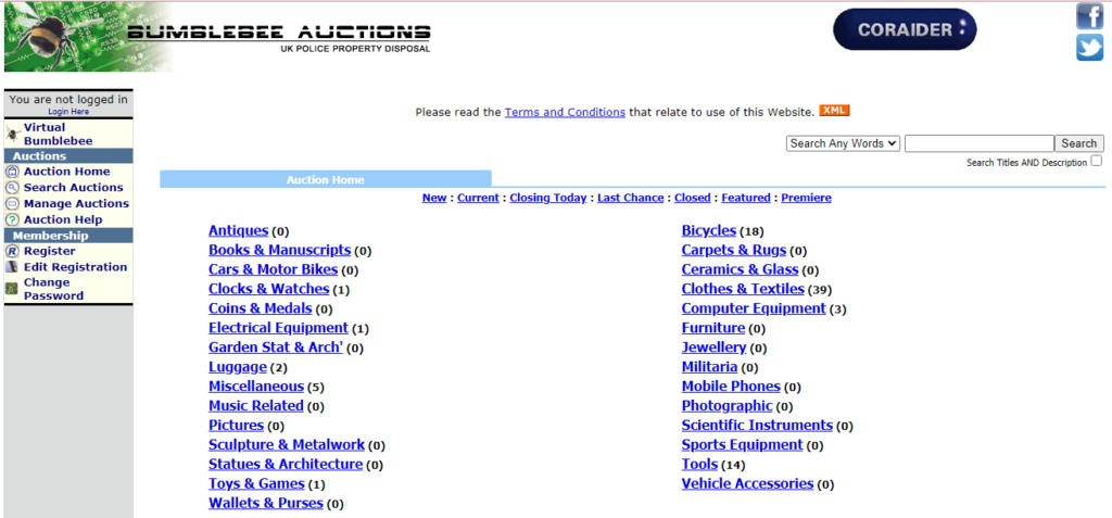 police auctions uk
